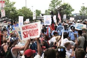 Democracy Spring Demonstration, July 25th, 2016