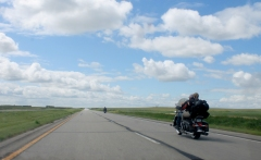 Heading toward the oil fields